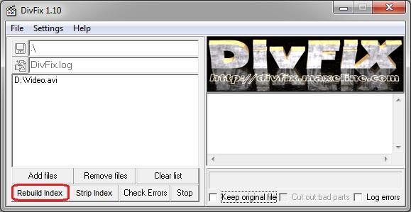 Программа для восстановления видео DivFix