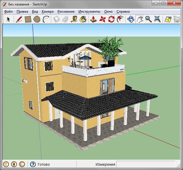 3D моделирование (дом)